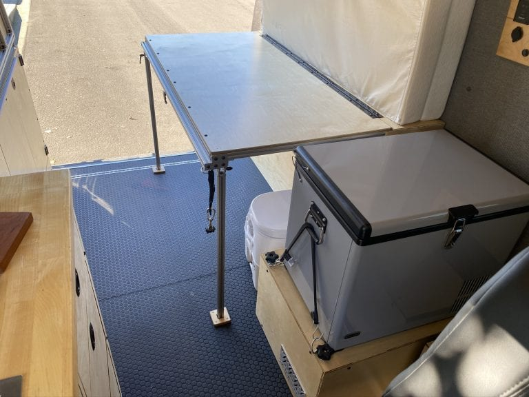 Table to bed conversion van
